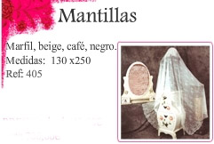Mantillas marfil