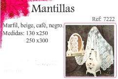 Mantillas bordadas a mano