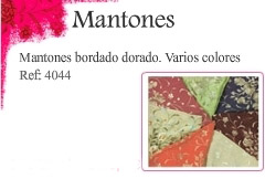 Mantones bordados dorados